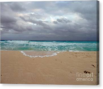 Cancun - Dark Sky Canvas Print by Cheryl Del Toro