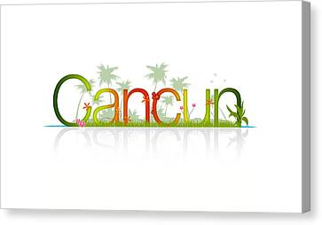 Cancun Mexico Canvas Print by Aged Pixel