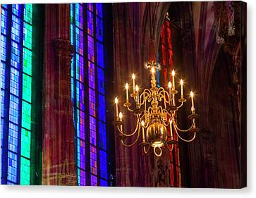 Candelabra, St Stephens Cathedral Canvas Print by Peter Adams