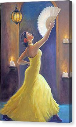 Candelight Castinetts Canvas Print by Gwen Carroll