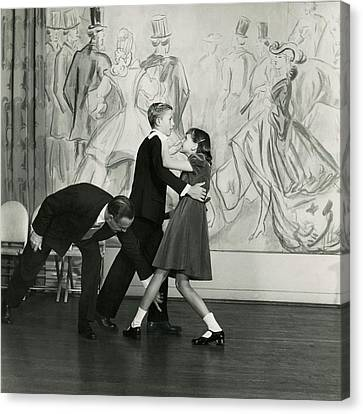 Dance Studio Canvas Print - Candida Mabon And William C. Breed At Dancing by Frances Mclaughlin-Gill