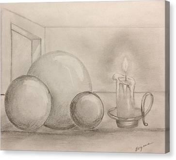 Candle And Balls Canvas Print