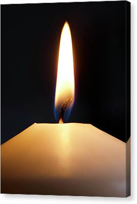 Candle Flame Canvas Print by Science Photo Library