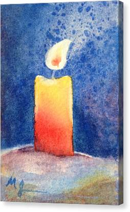 Candle Glow Canvas Print