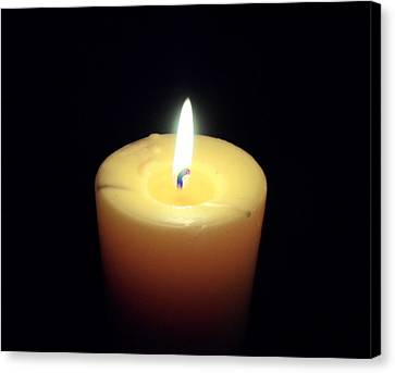 Candle Canvas Print by Jenna Mengersen