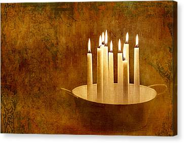 Candle Lit Canvas Print - Candle Light by Heike Hultsch