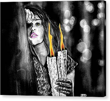 Candle Light Canvas Print by Rishabh Ranjan