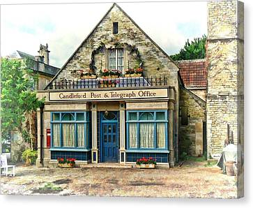 Canvas Print featuring the photograph Candleford Post Office by Paul Gulliver