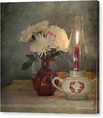 Candlelight Canvas Print by Betty LaRue