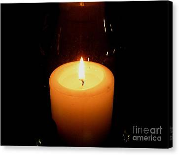 Candlelight Moments Canvas Print