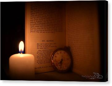 Candlelight Read Canvas Print by Guy Hoffman