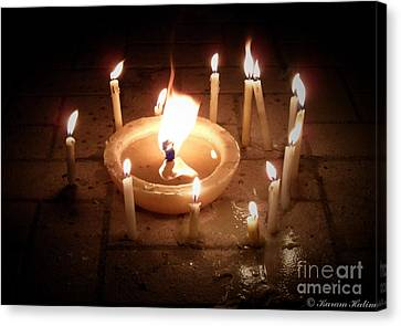 Candles For Innocent Souls Canvas Print by Karam Halim