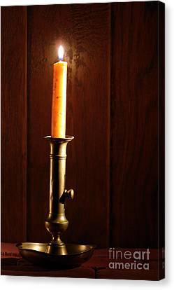 Candlestick Canvas Print by Olivier Le Queinec