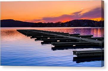 Candlewood Lake Canvas Print by Bill Wakeley