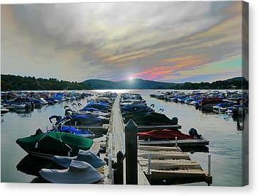 Candlewood Lake Canvas Print by Diana Angstadt