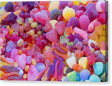 Candlyland Gumdrops Canvas Print by Alixandra Mullins