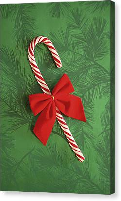 Candy Cane Canvas Print by Colette Scharf