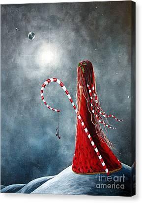 Candy Cane Fairy By Shawna Erback Canvas Print by Shawna Erback