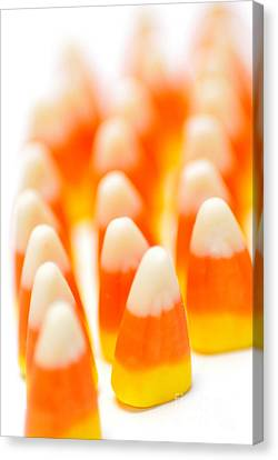 Depth Of Field Canvas Print - Candy Corn Army by Amy Cicconi