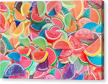 Candy Fruit Canvas Print by Alixandra Mullins