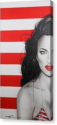 Portrait - ' Candy Girl ' Canvas Print by Christian Chapman Art