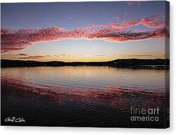 Candy Pink Reflections - Sunrise Canvas Print by Geoff Childs