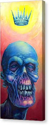 Candy Pop Zombie King Canvas Print by Seth Fyffe
