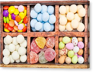 Candy Selection Canvas Print by Tom Gowanlock
