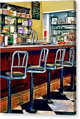 Candy Store With Soda Fountain Canvas Print by Susan Savad