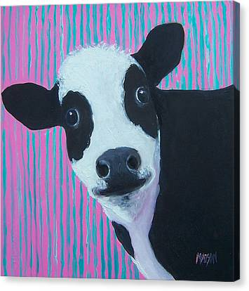 Candy The Cow Canvas Print by Jan Matson