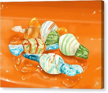 Candy Canvas Print by Veronica Minozzi