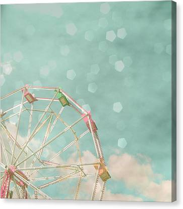 Silver Turquoise Canvas Print - Candy Wheel by Cassia Beck