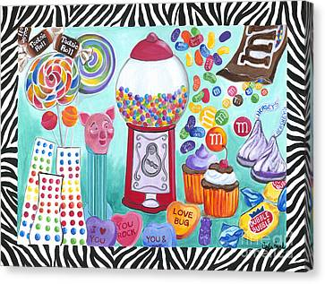 Candy Window Canvas Print by Carla Bank