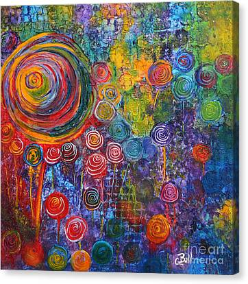 Candyland Canvas Print by Claire Bull
