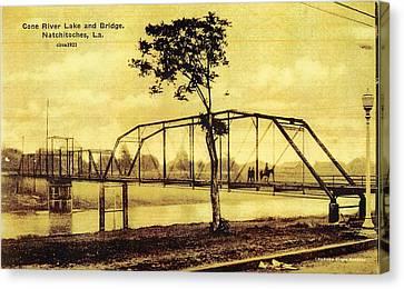 Cane River Lake And Bridge C1921 Canvas Print