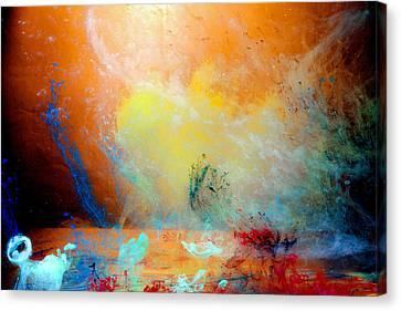 Canis De Galactic Canvas Print by Petros Yiannakas