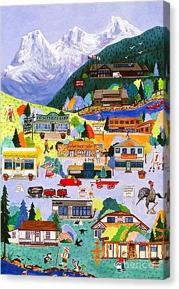 Canmore Art Walk Canvas Print by Virginia Ann Hemingson