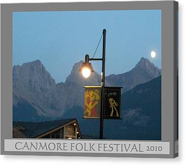 Canmore Folk Festival Canvas Print by Cathy Long