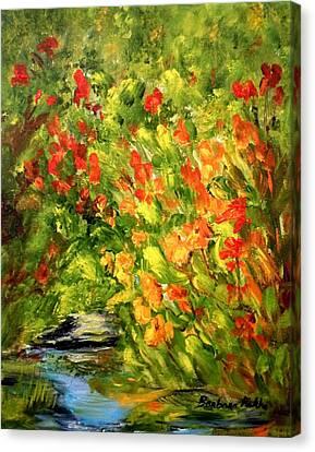 Canna Lilies Canvas Print by Barbara Pirkle