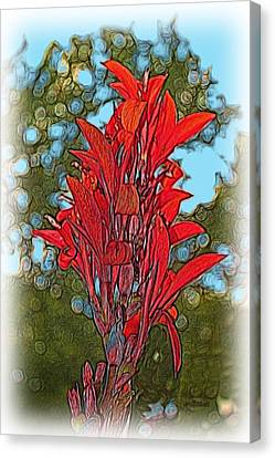 Canna Lily Canvas Print by Dennis Lundell