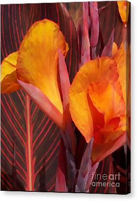 Canna Painterly Canvas Print by Chalet Roome-Rigdon