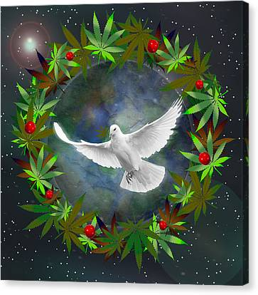 Cannabis Around The World Canvas Print
