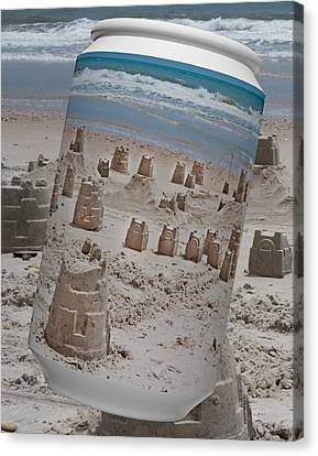 Canned Castles Canvas Print by Betsy Knapp