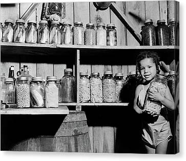 Canned Food, 1940 Canvas Print by Granger