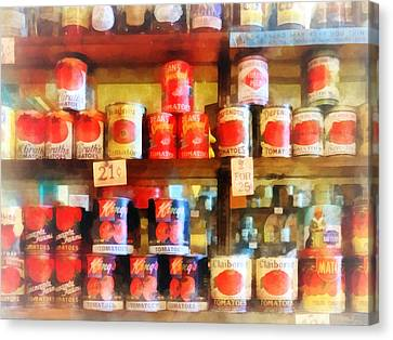 Canned Tomatoes Canvas Print by Susan Savad