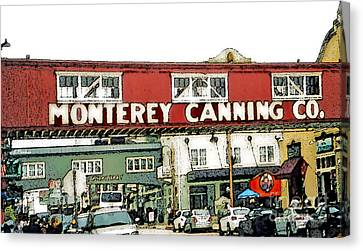 Cannery Row - Monterey Bay Canvas Print by Linda  Parker