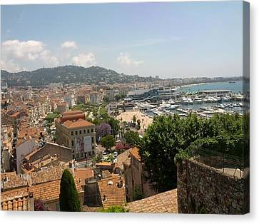 Cannes French Riviera Iv Canvas Print by Shesh Tantry