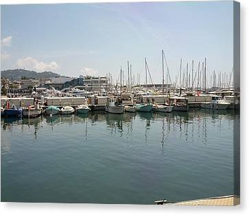 Cannes French Riviera Vi Canvas Print by Shesh Tantry