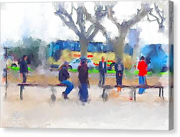 Cannes In Winter Canvas Print by Yury Malkov