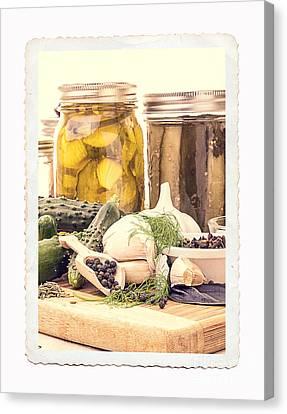 Canning Kitchen Art Canvas Print by Edward Fielding
